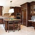 Elegant Kitchen Design with Large Island